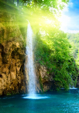waterfall in deep forest Stock Photo - 4061436