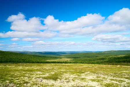 mountain north of Russia photo
