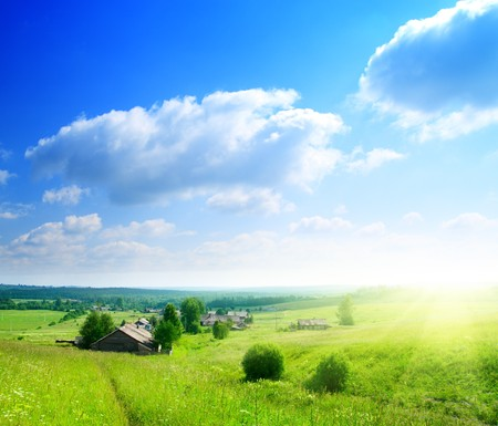 perfect summer day in russian village Stock Photo - 4174567