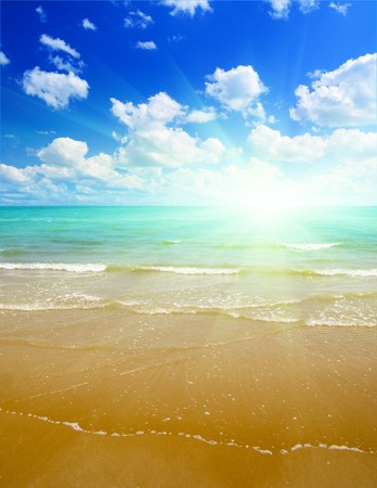 sand and ocean Stock Photo - 4502473