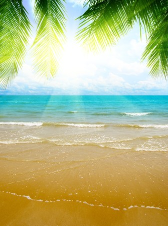sand and ocean Stock Photo