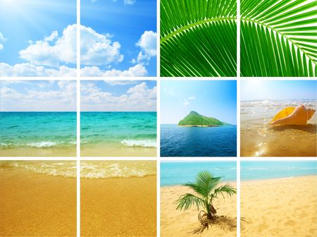 collage photos of ocean nature Stock Photo - 4589507