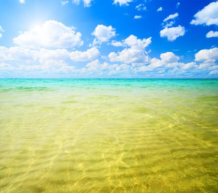 sand and ocean Stock Photo - 4589463