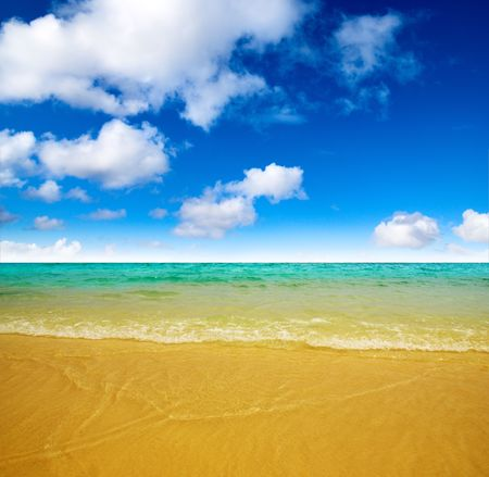 sand and ocean Stock Photo - 4736312