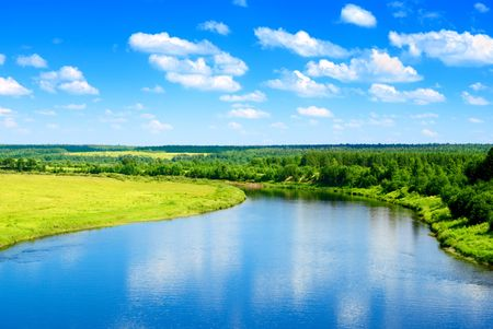 river and summer nature Stock Photo - 4827197