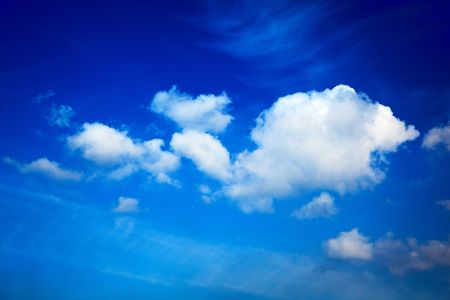 perfect blue cloudy sky Stock Photo - 4884699
