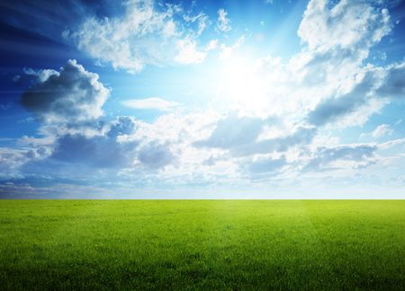 spring day and green field Stock Photo - 5801125