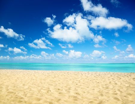 strand en zee Stockfoto