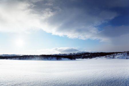 north of Russia winter lake Stock Photo - 6596861