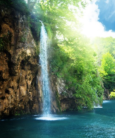 waterfall in deep forest Stock Photo - 7102262