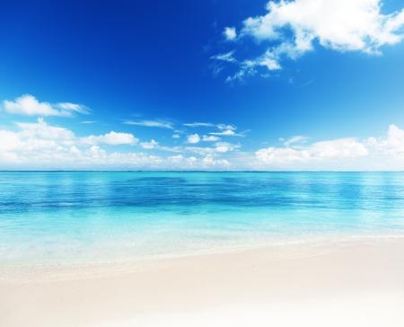 cielo y mar: Arena de playa Caribe mar