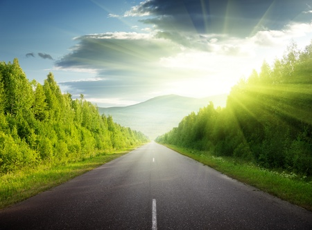 roadways: road in Russian mountains