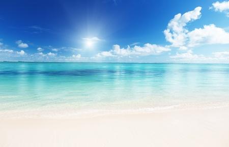 ocean background: ocean and perfect sky