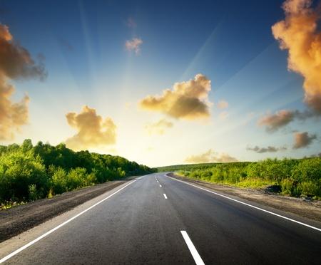 destinos: carretera en monta�as rusas