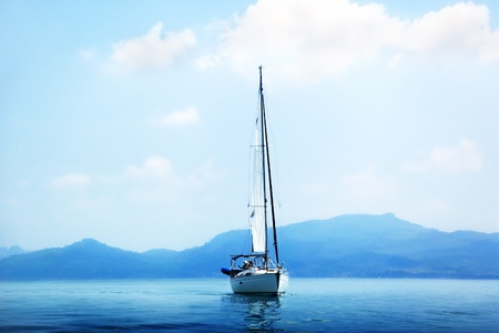 yacht and blue water ocean Stock Photo - 9356705