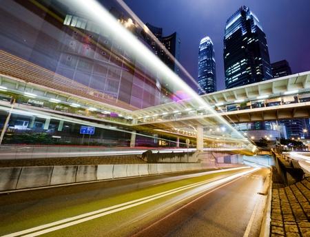 traffic in Hong Kong at night Stock Photo - 9356716