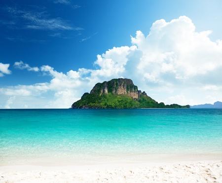 aonang: Poda island in Krabi Thailand Stock Photo