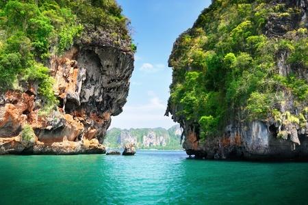 Playa de Railay de Rockson en Tailandia de Krabi Foto de archivo - 9911975