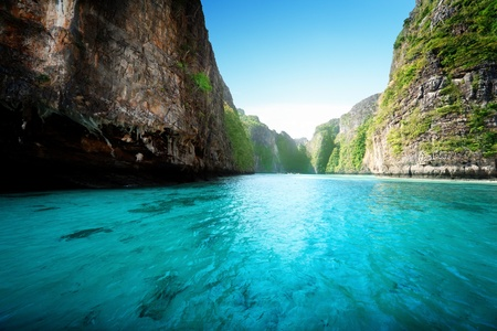 bay at Phi phi island in Thailand photo