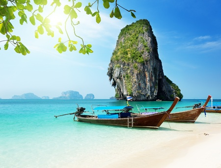 Railay beach in Krabi Thailand 免版税图像
