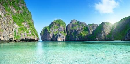 pano of Maya bay Phi Phi island Thailand photo