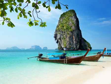 Railay beach in Krabi Thailand 版權商用圖片
