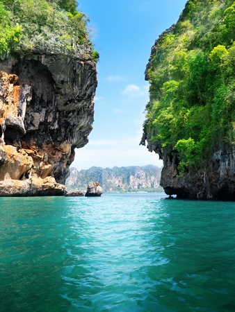 rocks and sea in Krabi Thailand 写真素材