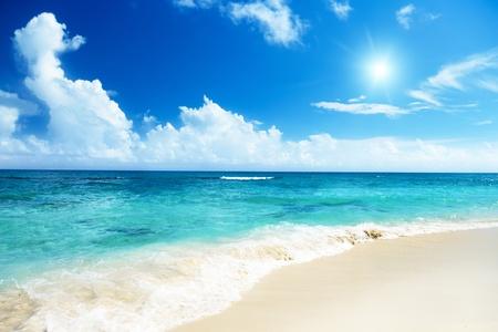 catalina: beach on Catalina island Dominican republic Stock Photo