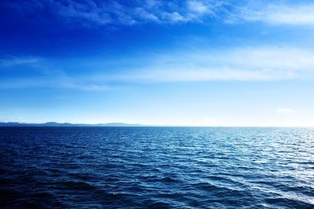 Caribische zee en perfecte hemel Stockfoto