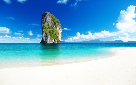 asia nature: Poda island in Krabi Thailand Stock Photo