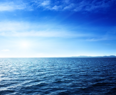 mar: Mar Caribe y el cielo perfecto