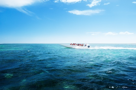 speed boat in Caribbean sea Stock Photo - 10329026