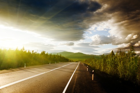 highway road: road in Russian mountains