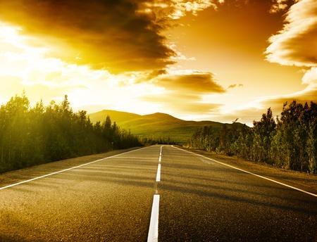 autopista: carretera en monta�as rusas