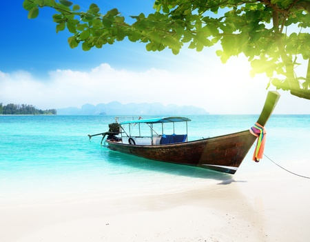 longtail: long boat and poda island in Thailand