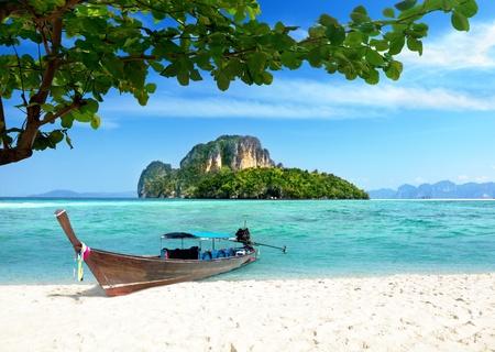 andaman: boat and islands in andaman sea Thailand