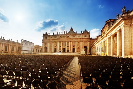 peter: Saint Peters Square in Vatican and seats