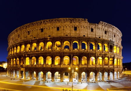 colosseum: The Colosseum at night, Rome, Italy