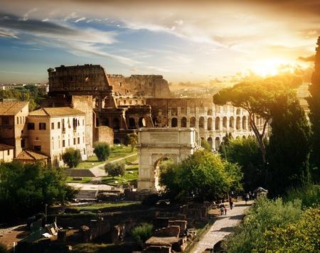 roman amphitheater: Colosseum in Rome, Italy