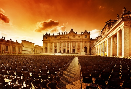 saint peter: Saint Peters Square in Vatican and seats