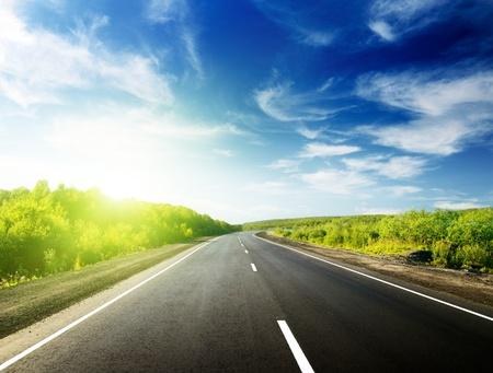Straße in der russischen Berge Standard-Bild