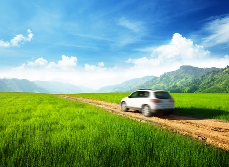 ground road and blurred car Stock Photo - 12525698