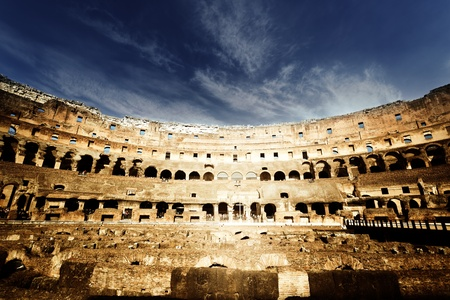 roman amphitheater: inside of Colosseum in Rome, Italy