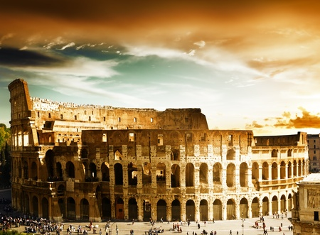 rome italy: Colosseum in Rome, Italy