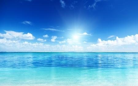 바다와 완벽 한 하늘 스톡 콘텐츠