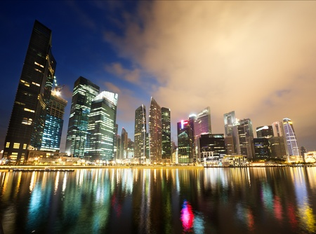 Night view of Singapore  photo