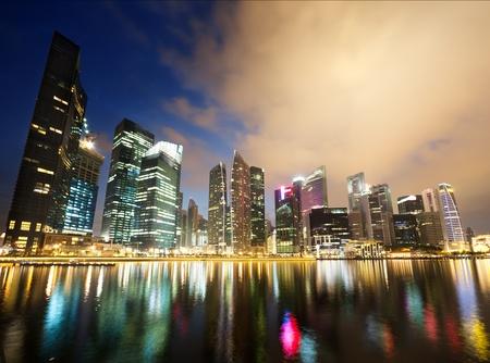 singapore: Night view of Singapore