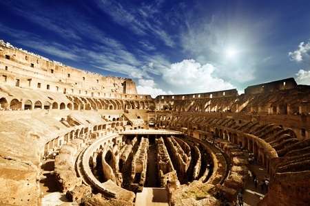 inside of Colosseum in Rome, Italy photo