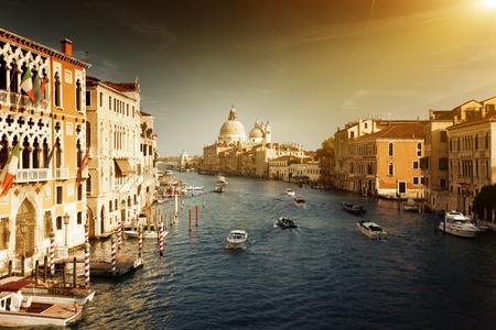 Grand Canal and Basilica Santa Maria della Salute, Venice, Italy Stock Photo - 13546527