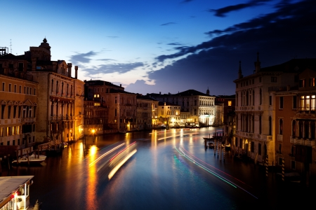 Grand Canal in Venice, Italy in sunset time photo